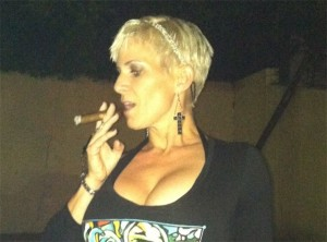 TheAssGirl Smoking Cigar