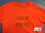 I love my straights - logo