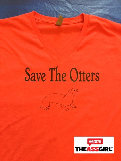 Save The Otters V-Neck T-Shirt